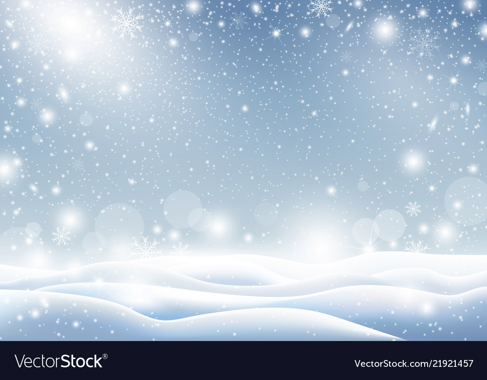 Snow For Christmas.Winter Background Of Falling Snow Christmas Card