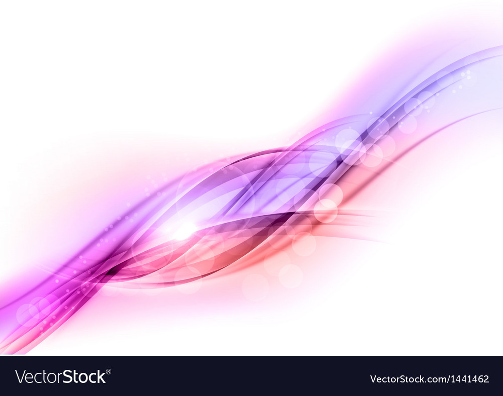 Background purple wave white horizontal vector image