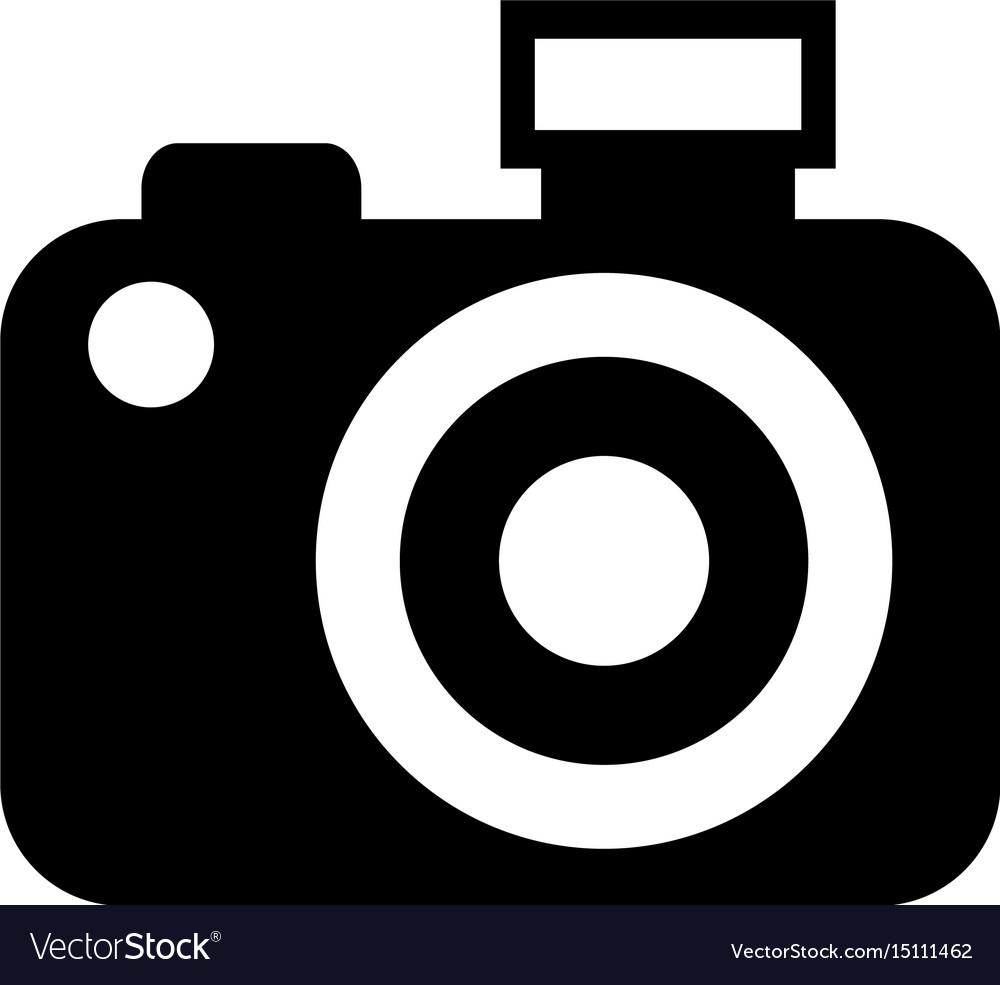 Black Icon Camera Cartoon Royalty Free Vector Image