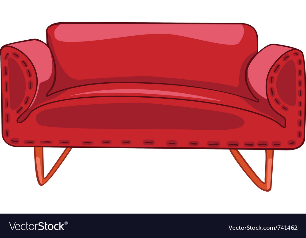 Cartoon Home Furniture Sofa Royalty Free Vector Image