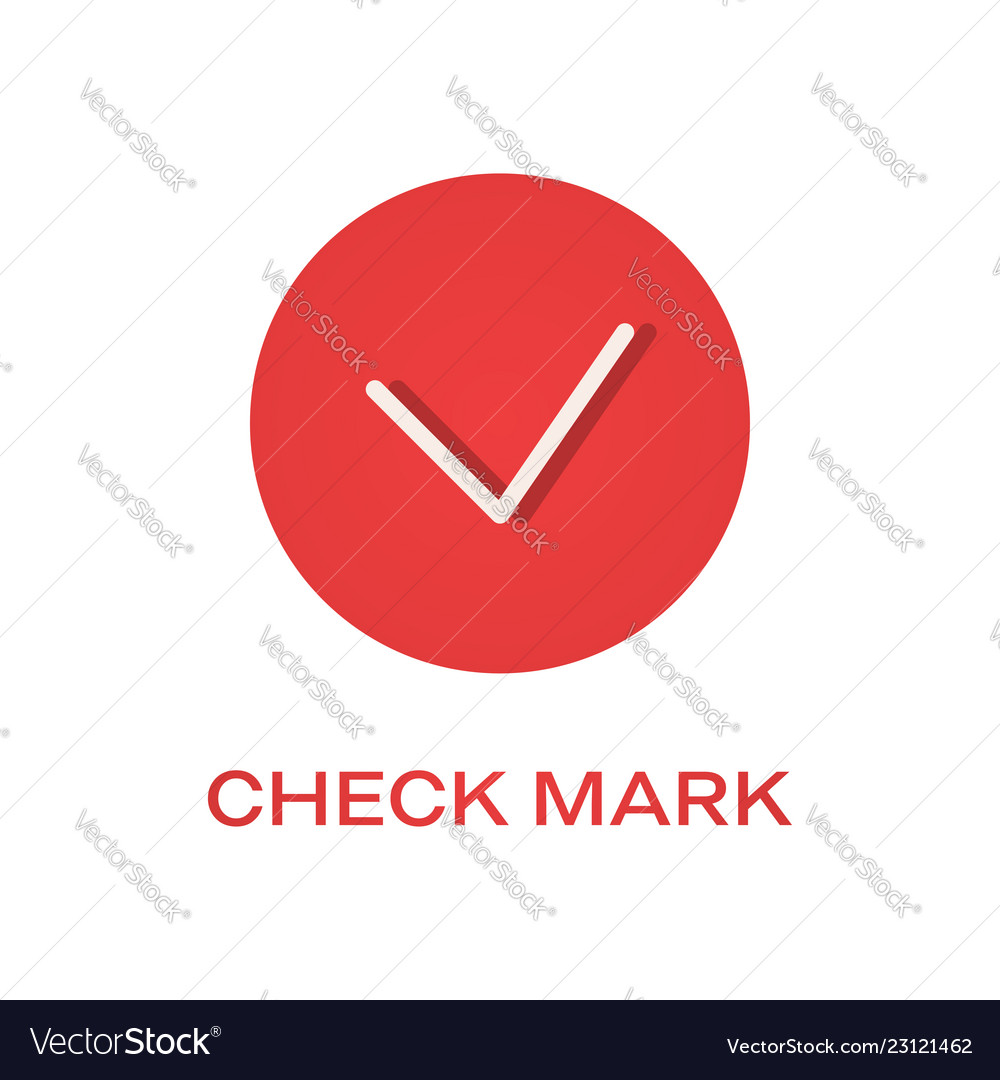 Check round mark flat icon tick symbol
