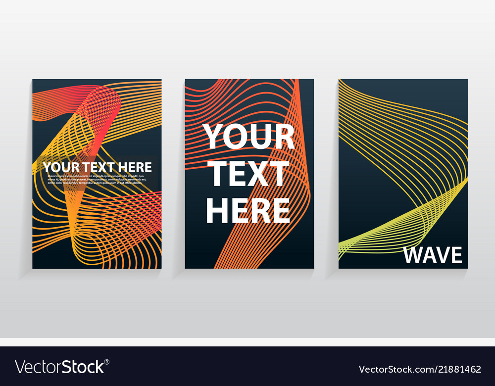 Collection of modern abstract banner