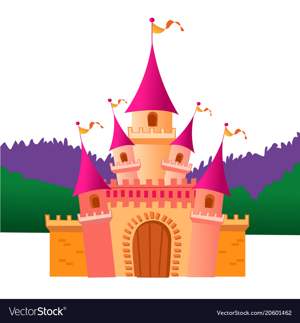 Colorful Castle Royalty Free Vector Image