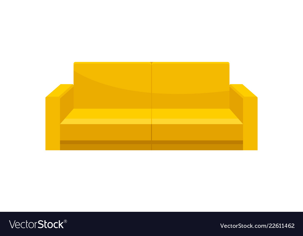 Comfortable sofa yellow modern couch living room