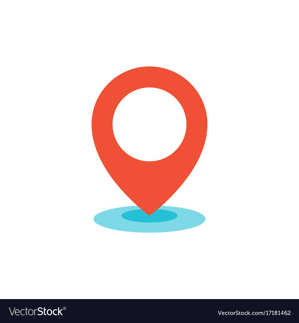 Geo location pin icon flat