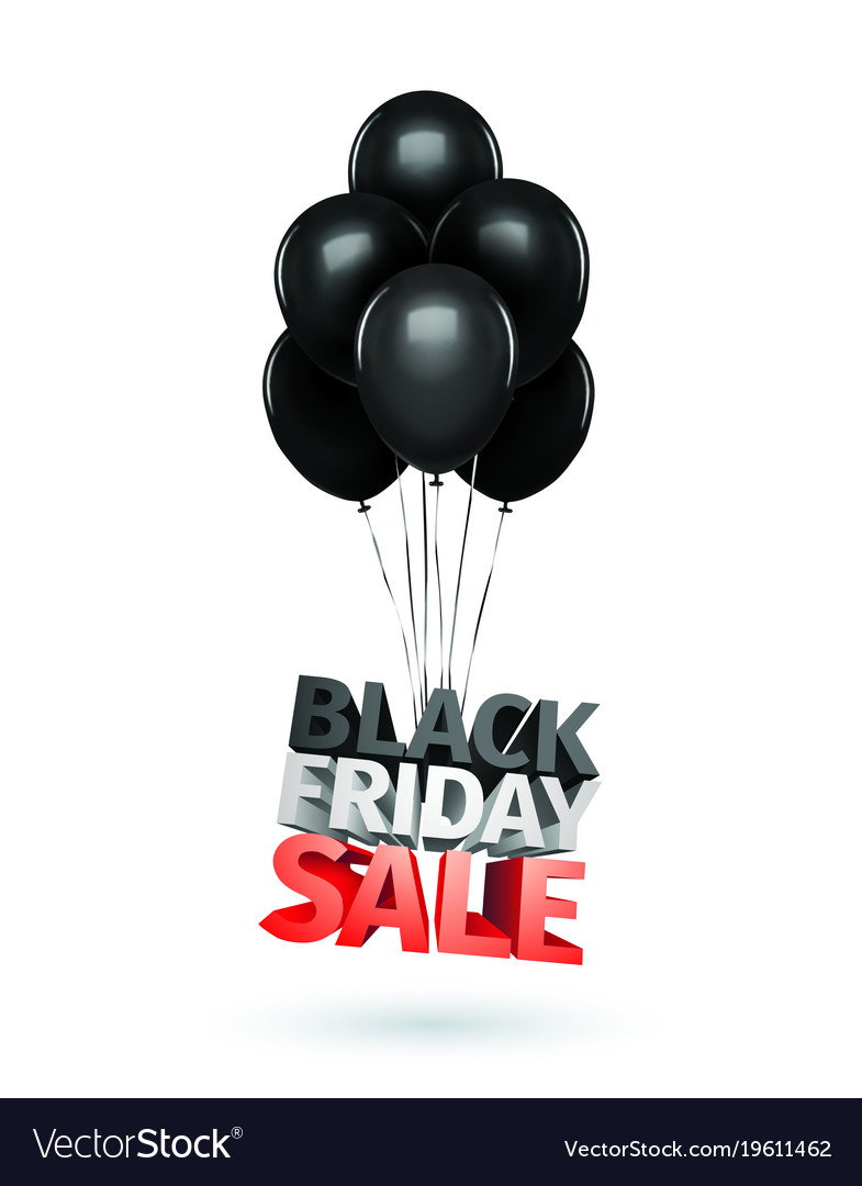 Group of balloons sale message for shop