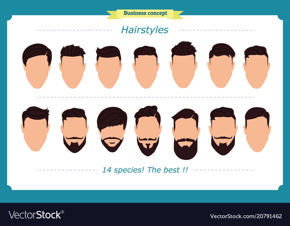 Hair styling mens haircut vector image