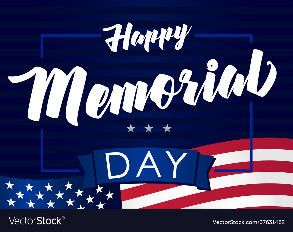 Happy memorial day may 31 dark banner