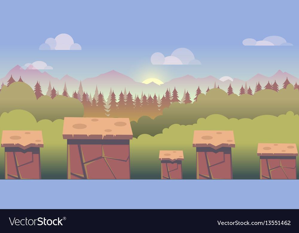 Mobile app game landscape level
