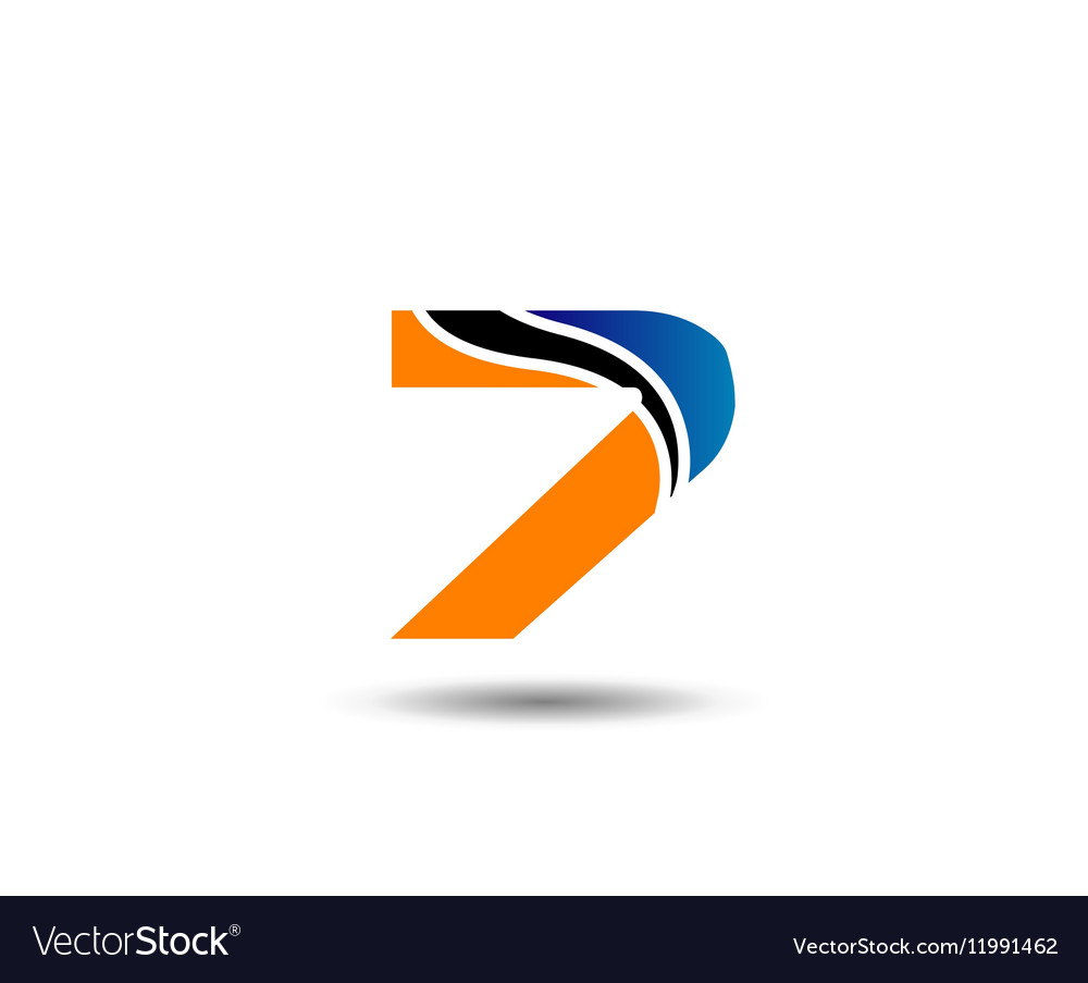 Number seven 7 logo icon template elements vector image
