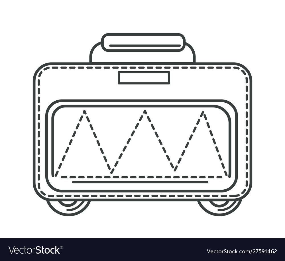 Suitcase or valise bag on wheels traveling