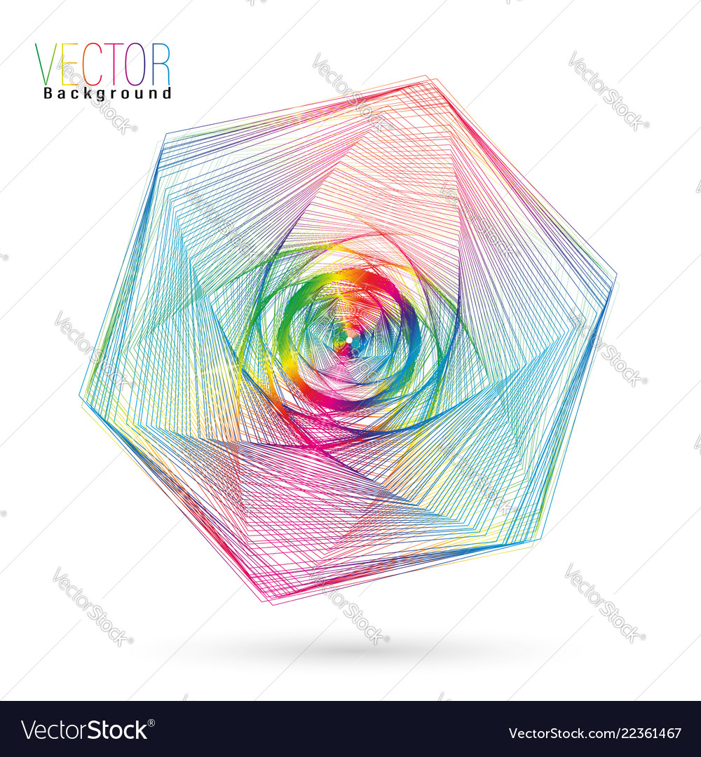 Abstract colorful wireframe