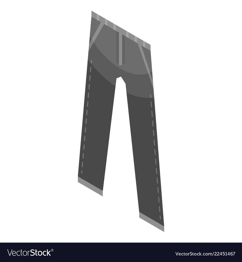 Black jeans pant icon isometric style