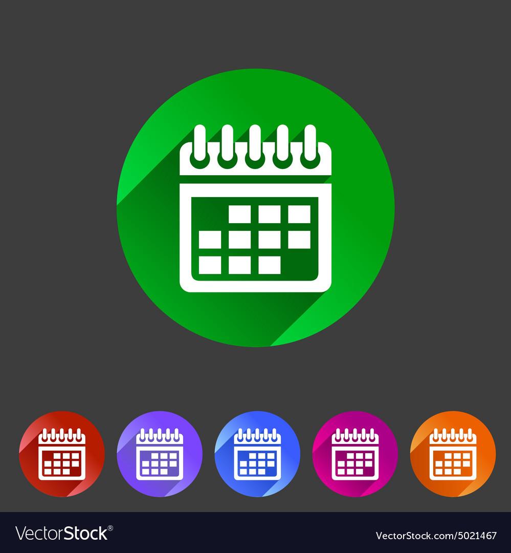 Calendar flat icon web sign symbol logo label