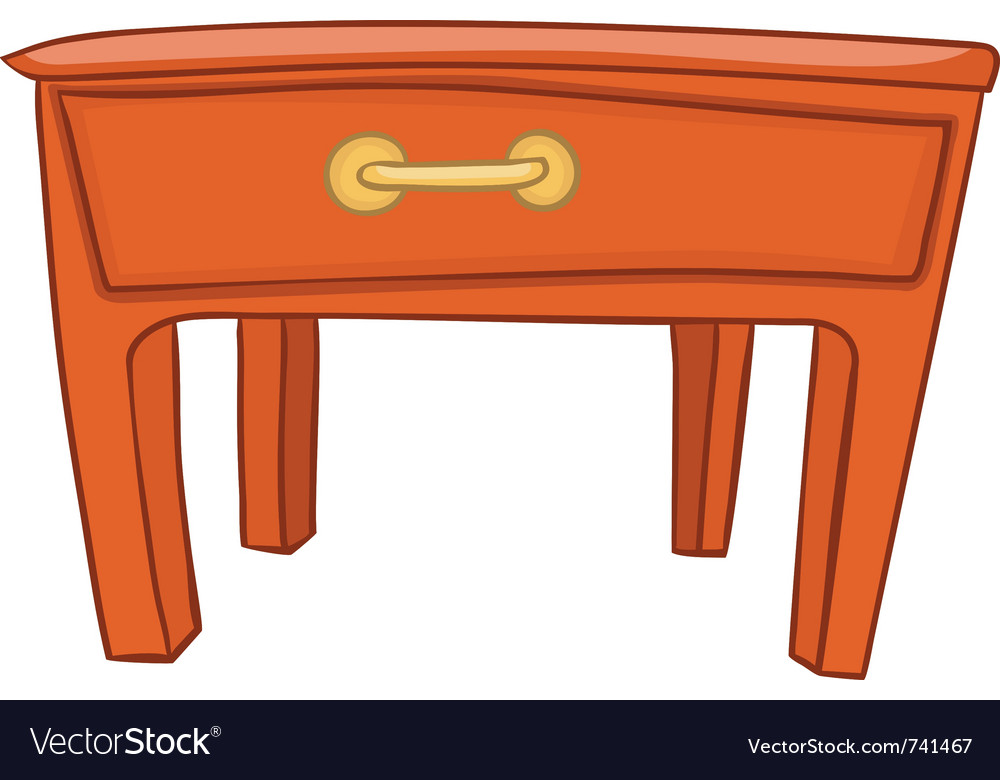 Cartoon Home Furniture Table Royalty Free Vector Image