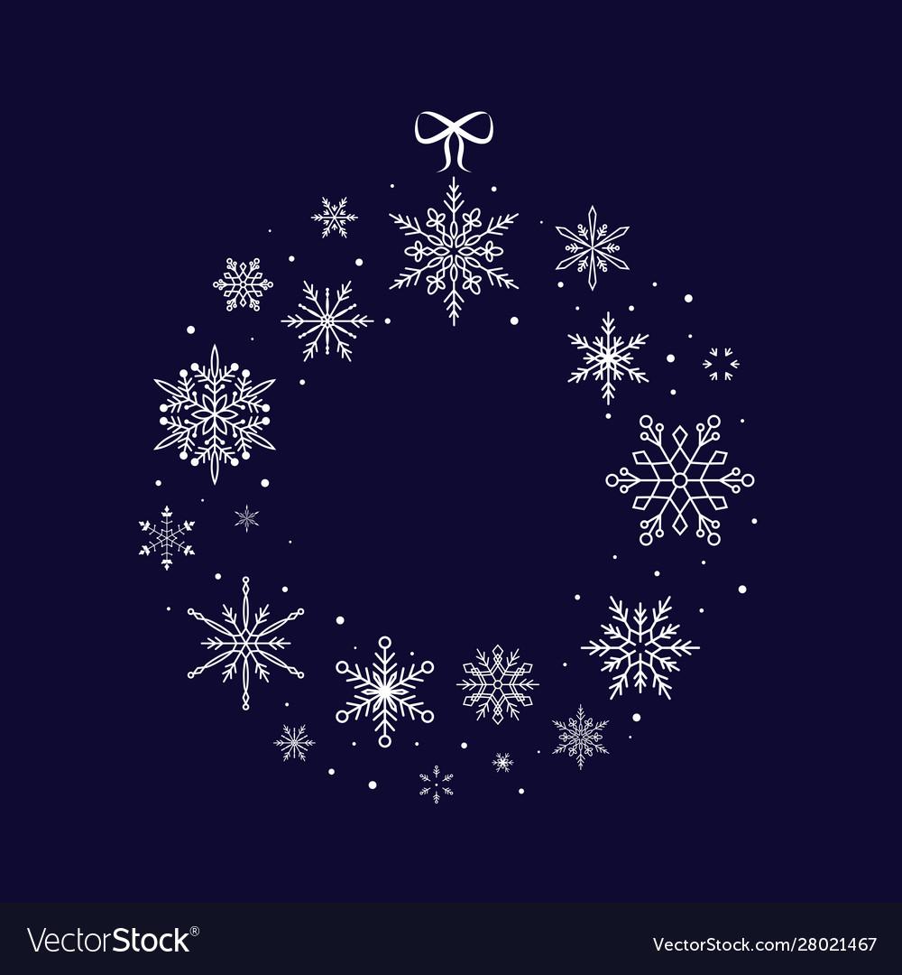 Christmas snowflake wreath christmas and new year
