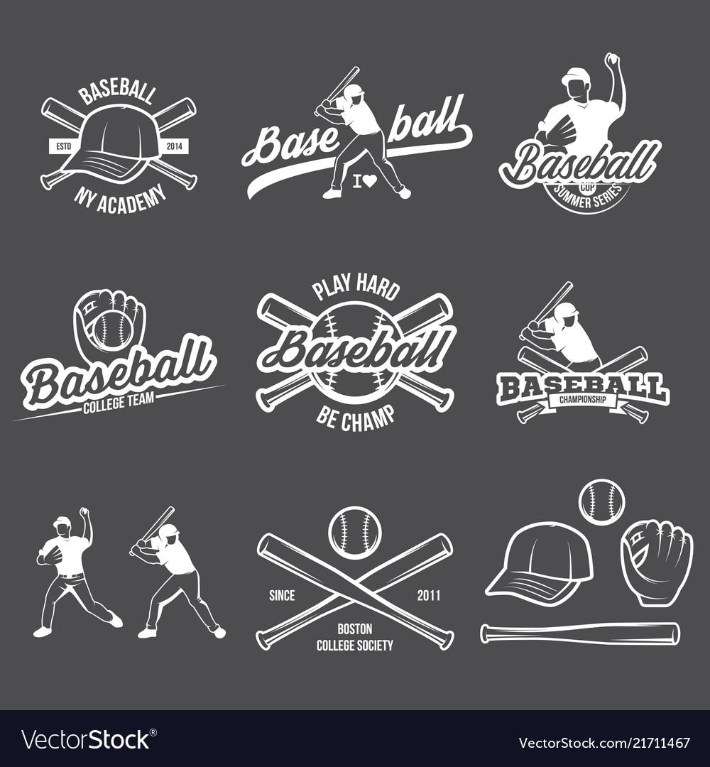 Collection baseball logo and insignias
