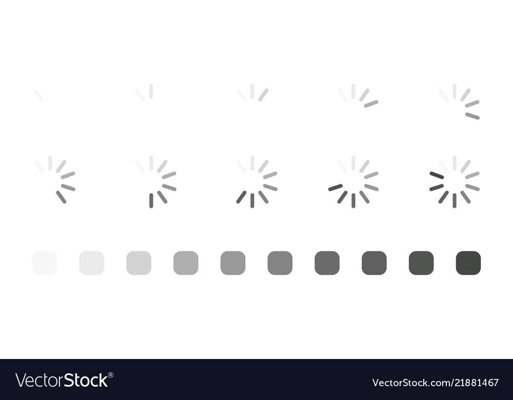 Collection of round loading bar for web