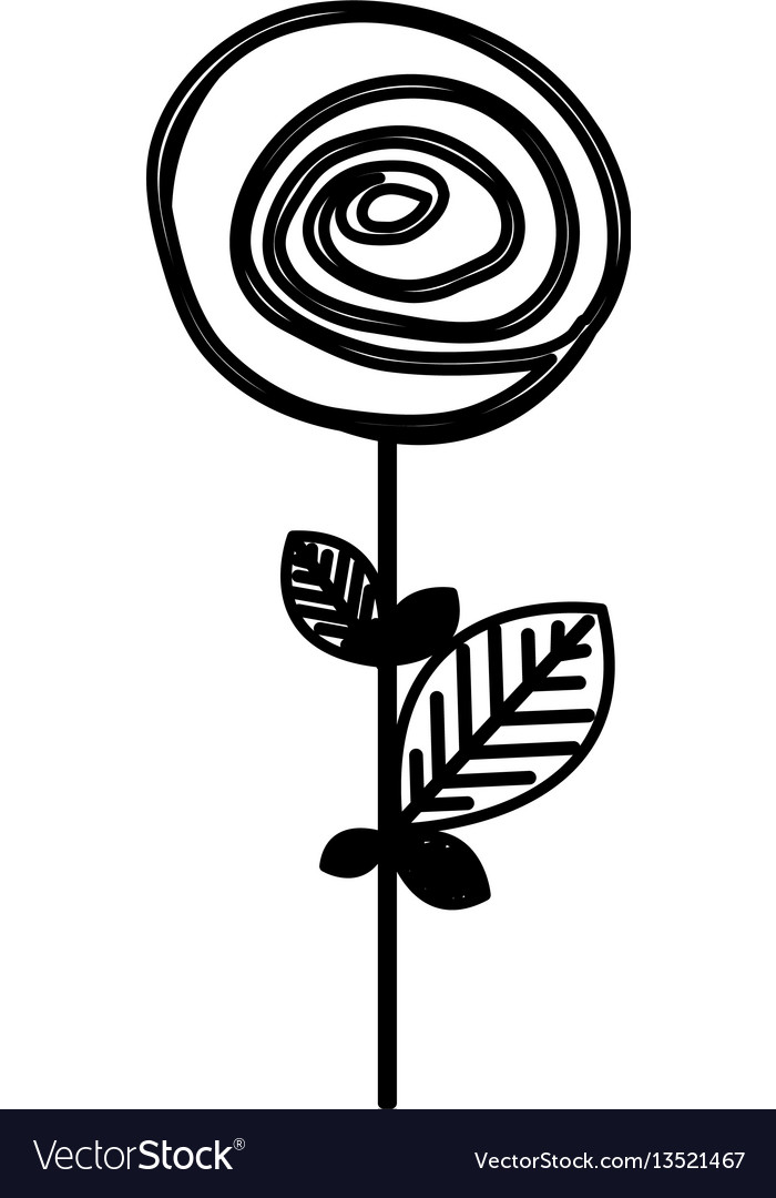 Figure flower with rounds petals icon