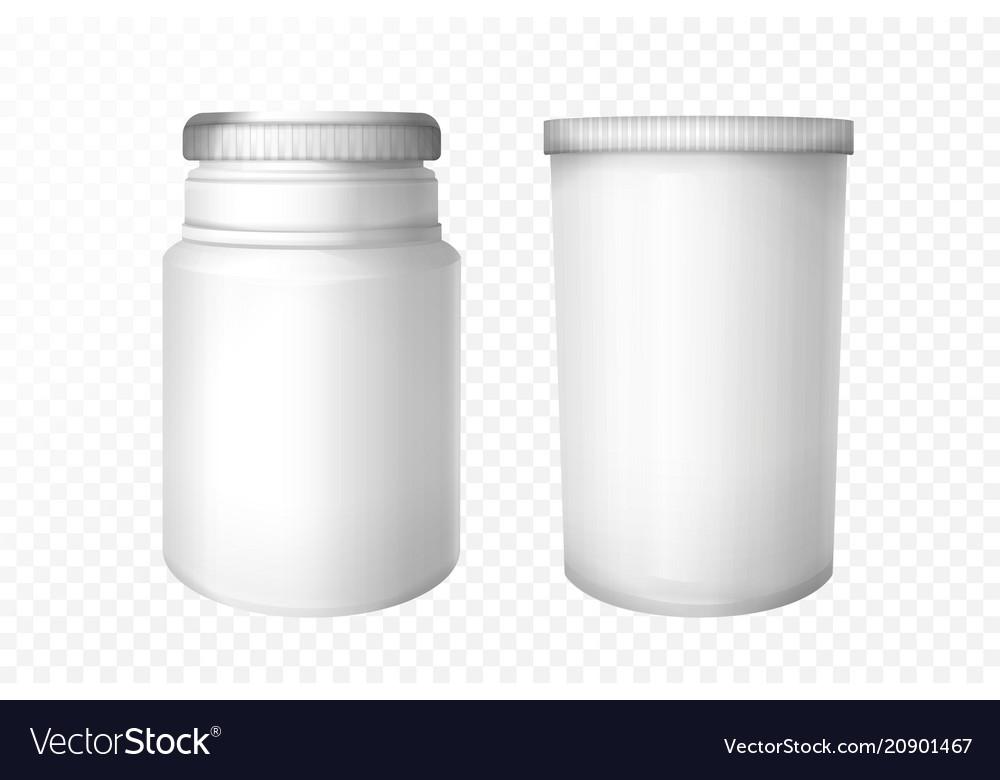 Realistic medical bottles set
