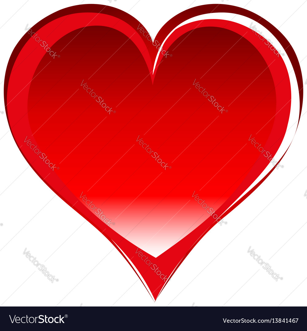 Red Heart Symbol Text Clipart Library
