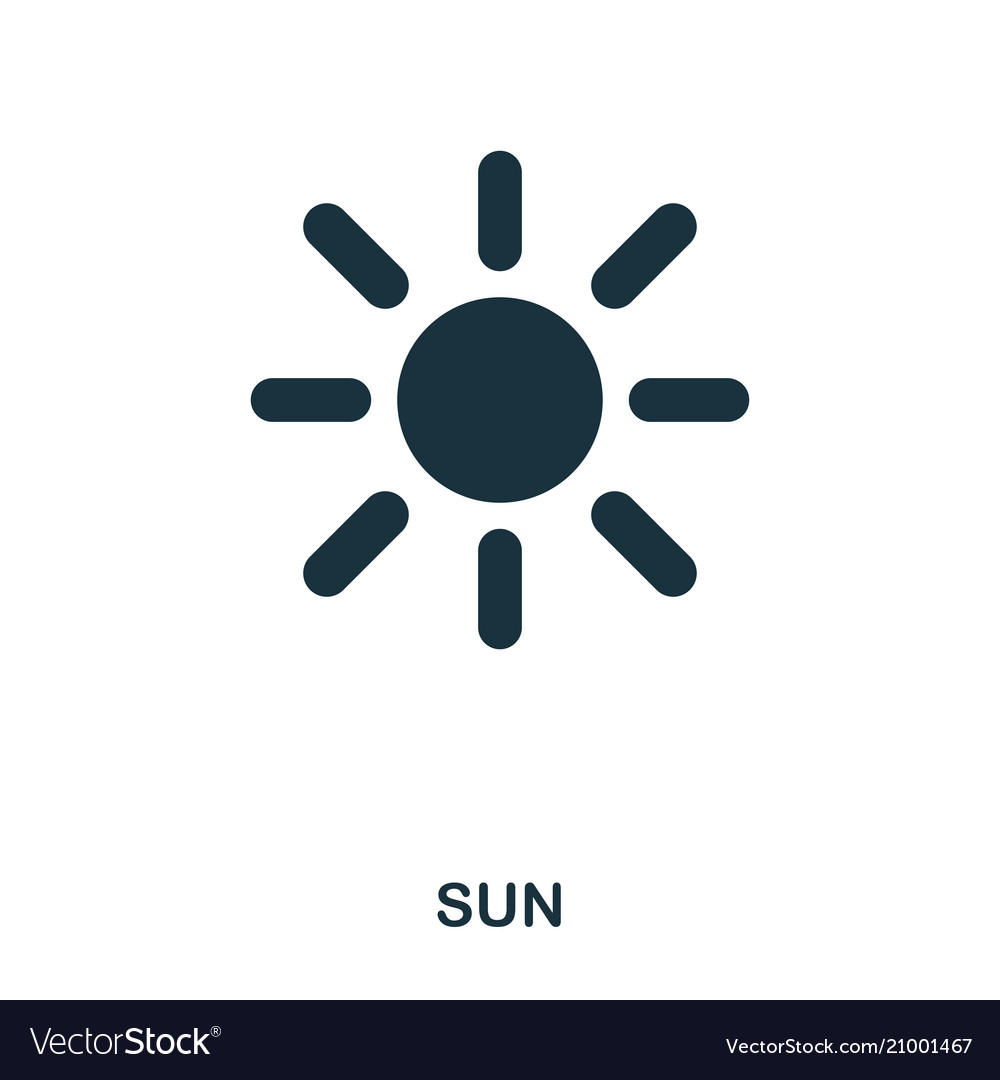 Sun icon flat style icon design ui vector image