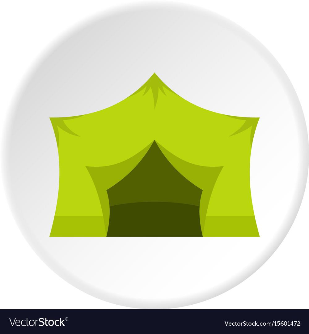 Camping equipment icon circle