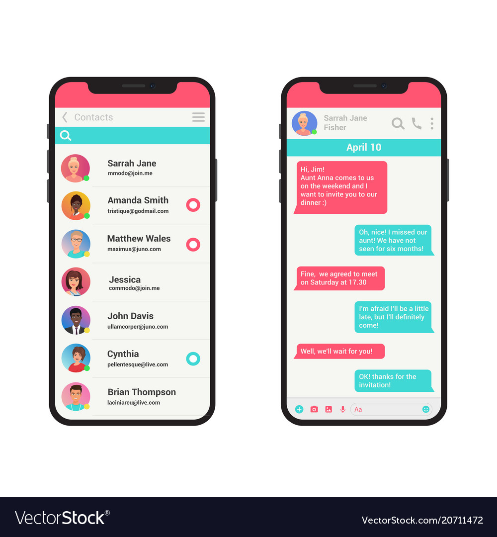 Chating and messaging concept vector image