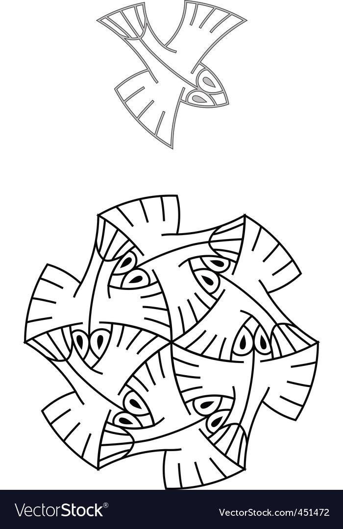Escher01 vector image
