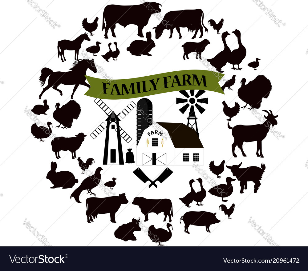 Farm and farming icons and design elements