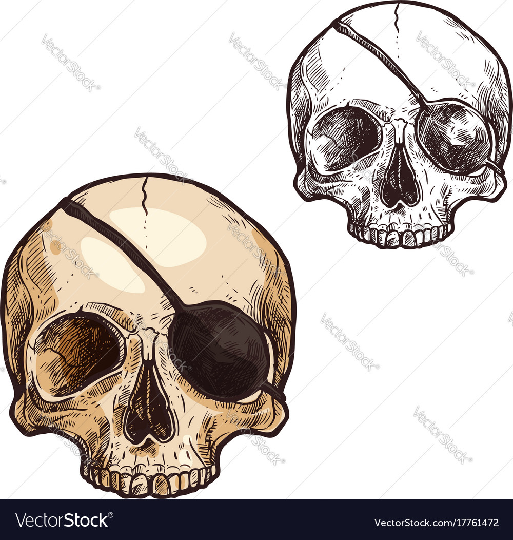 Halloween sketch icon skull skeleton