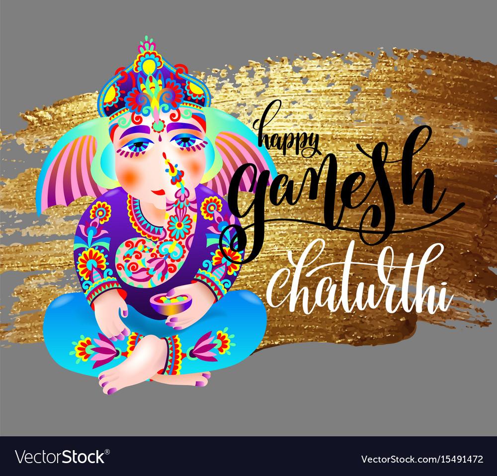 Happy ganesh chaturthi indian festival design