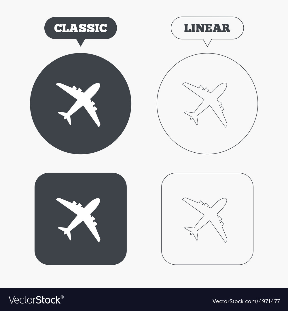Airplane Sign Plane Symbol Travel Icon Royalty Free Vector