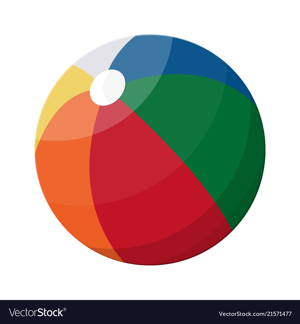 Beach ball in different colors vector