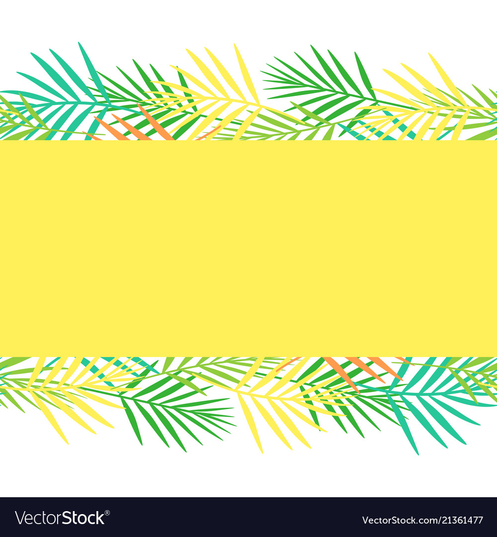 Bright postcard from abstract tropical leaf style