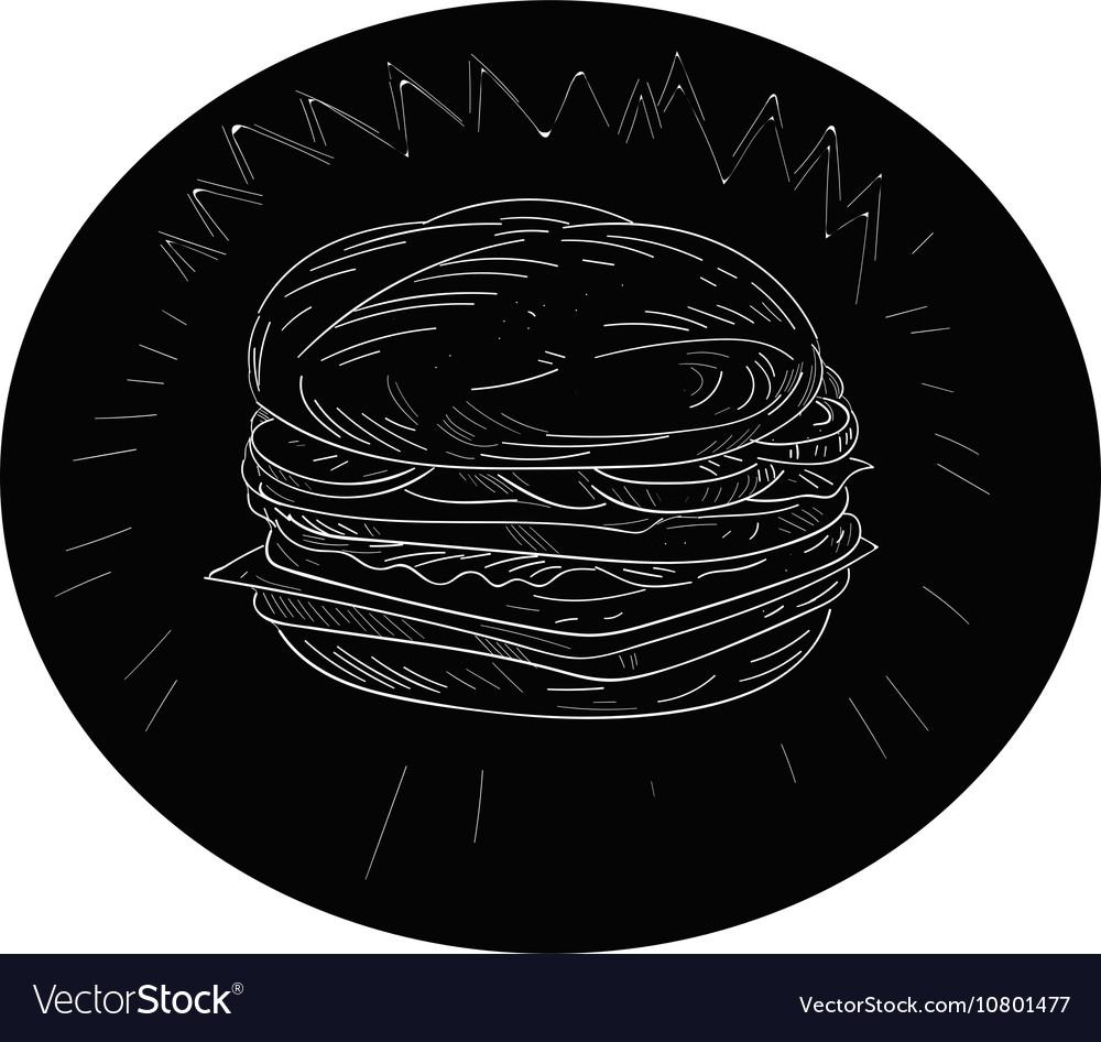 Cheeseburger Drawing vector image