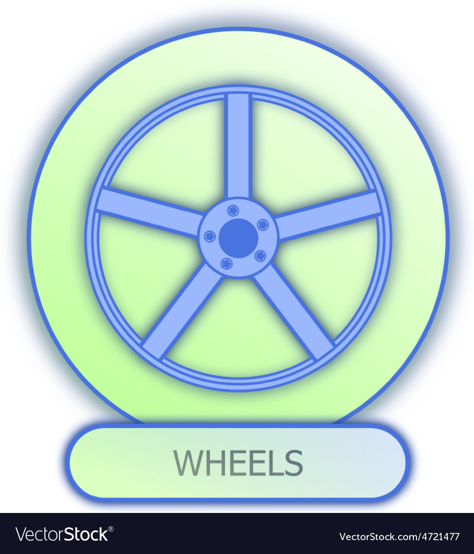 Commercial Icons And Symbols Of Car Parts Wheels