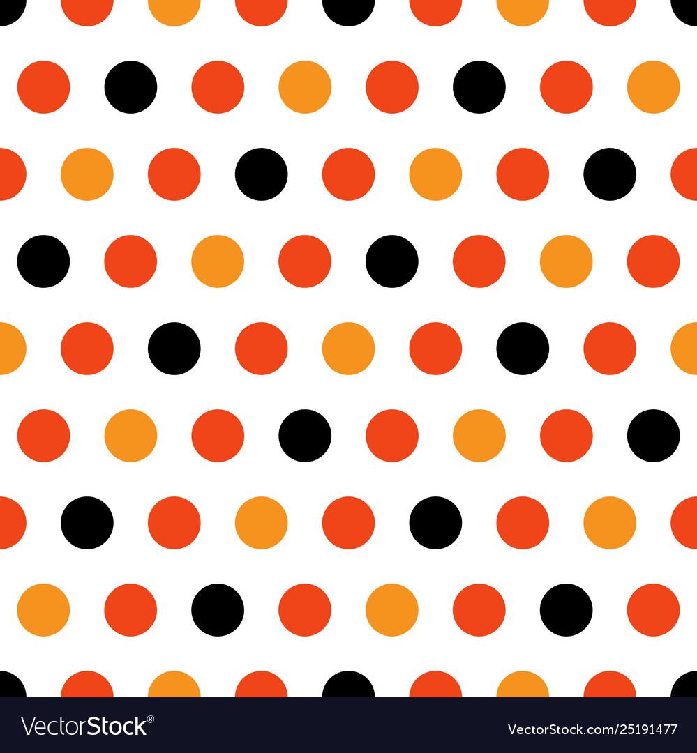 Halloween polka dots on white background