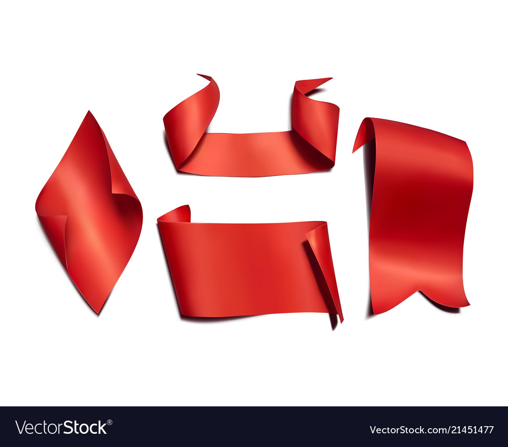 Red paper ribbons and flags