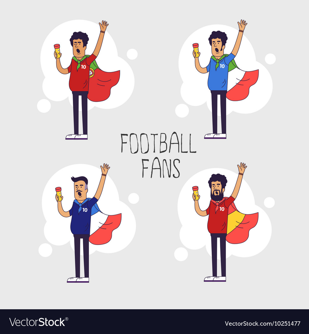 Set of the international fans of national football