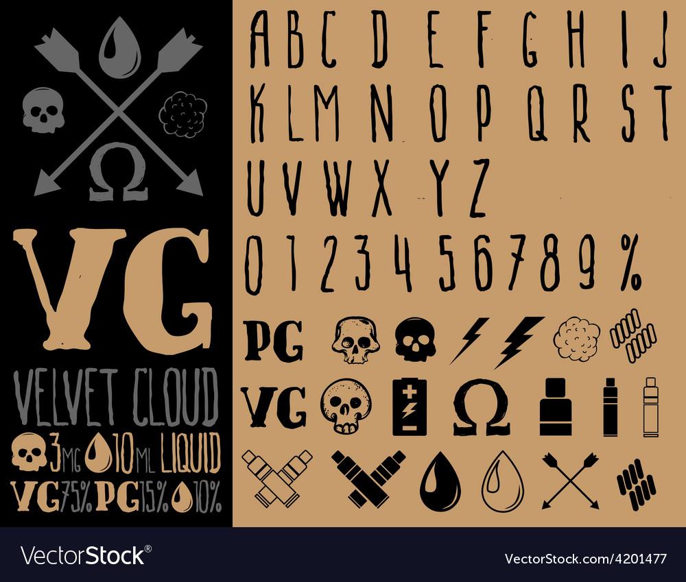 Vape Set vector image