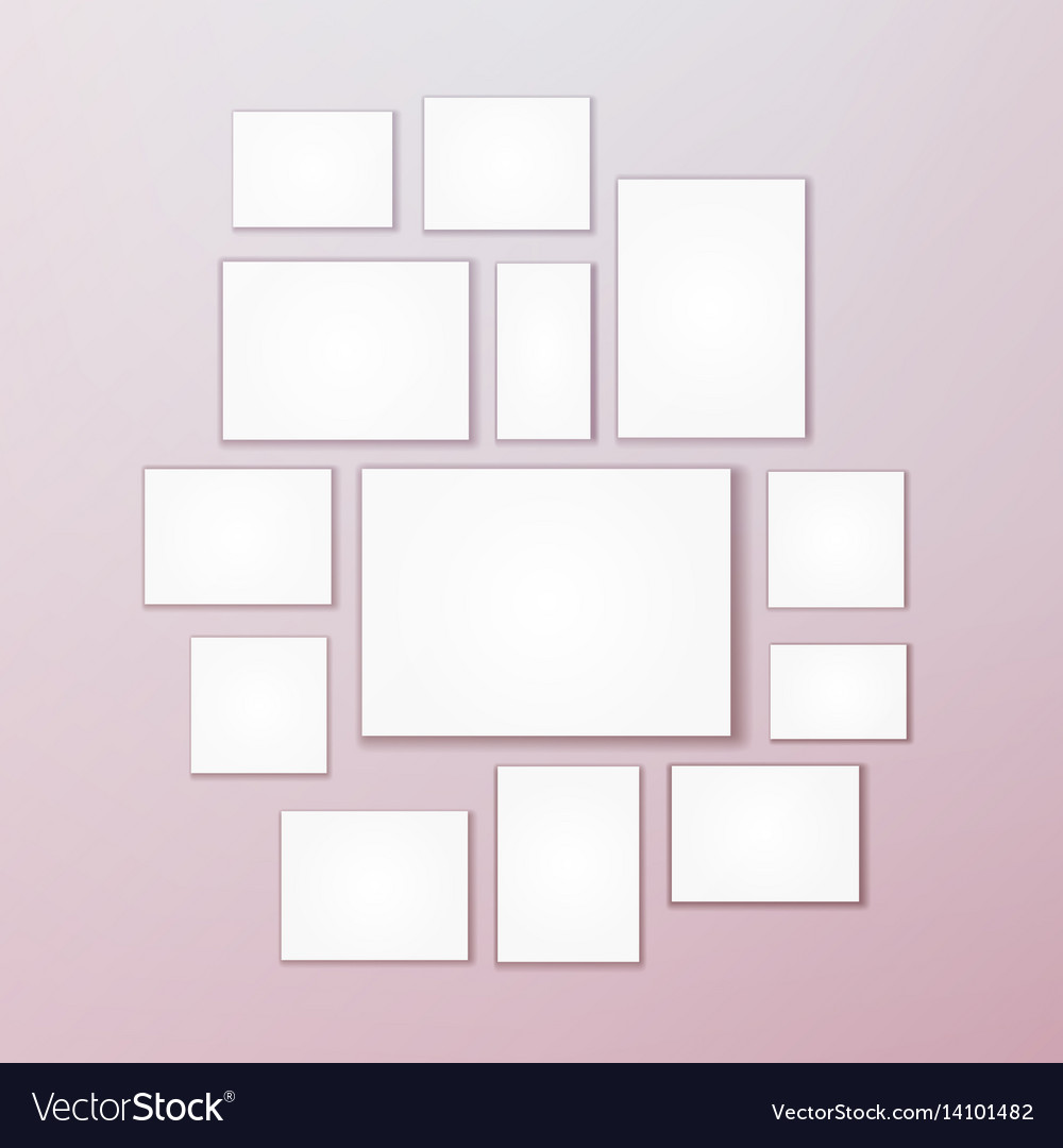 Blank white 3d paper canvas posters mock