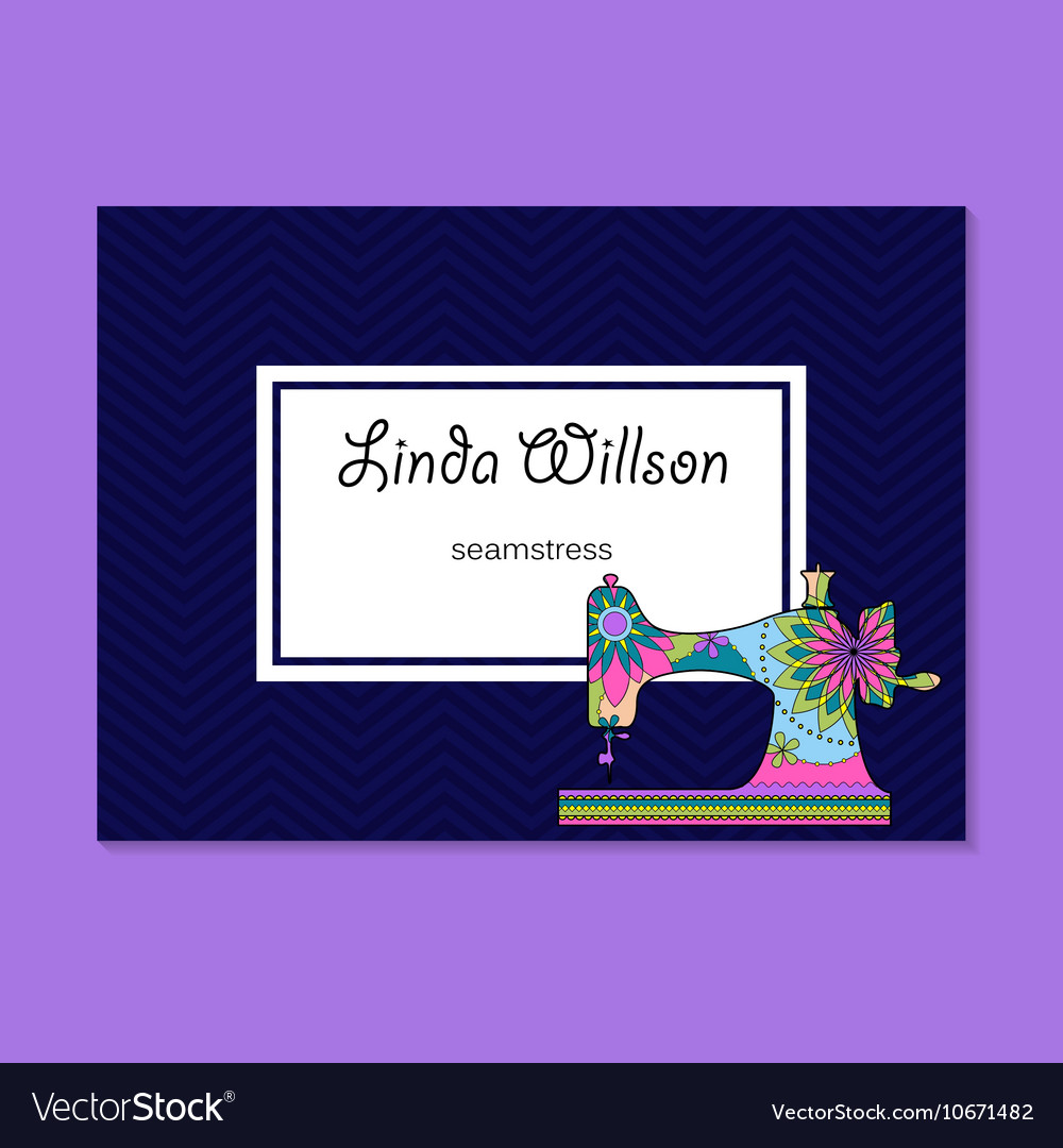 Business card for seamstress