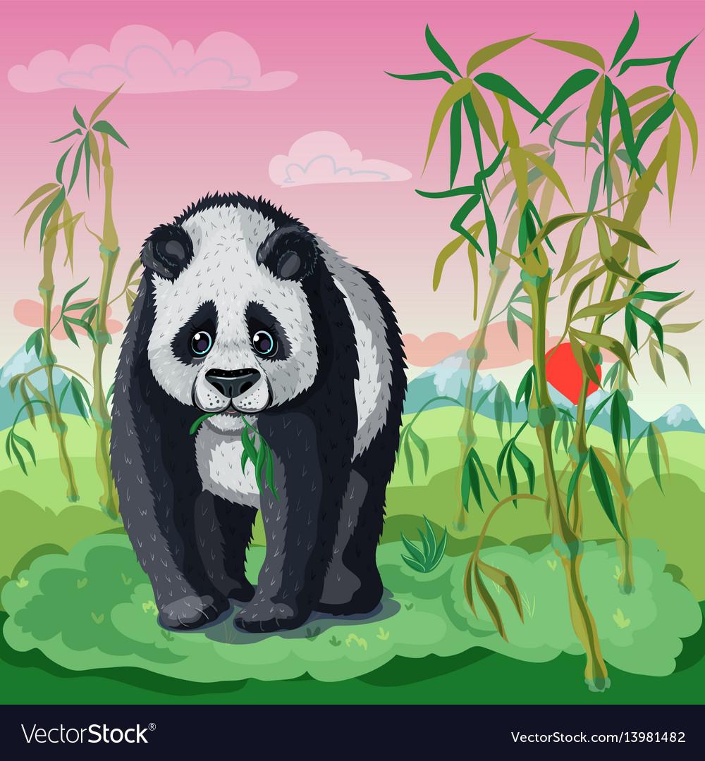 Cartoon asian animal template