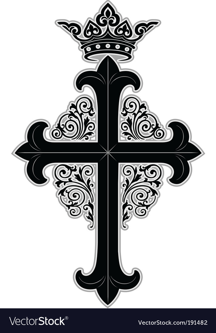 Crowned cross vector