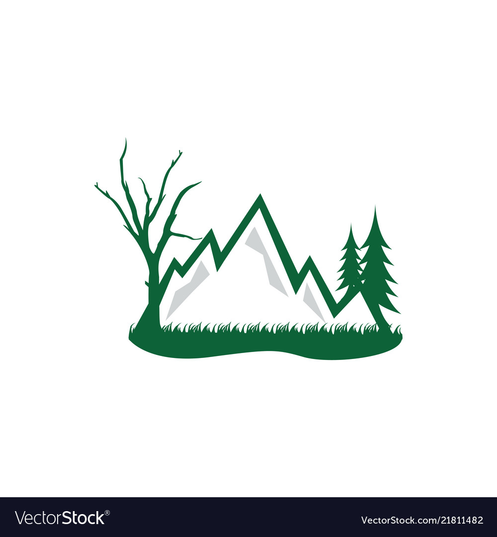 Forest and mountain grapic design template logo