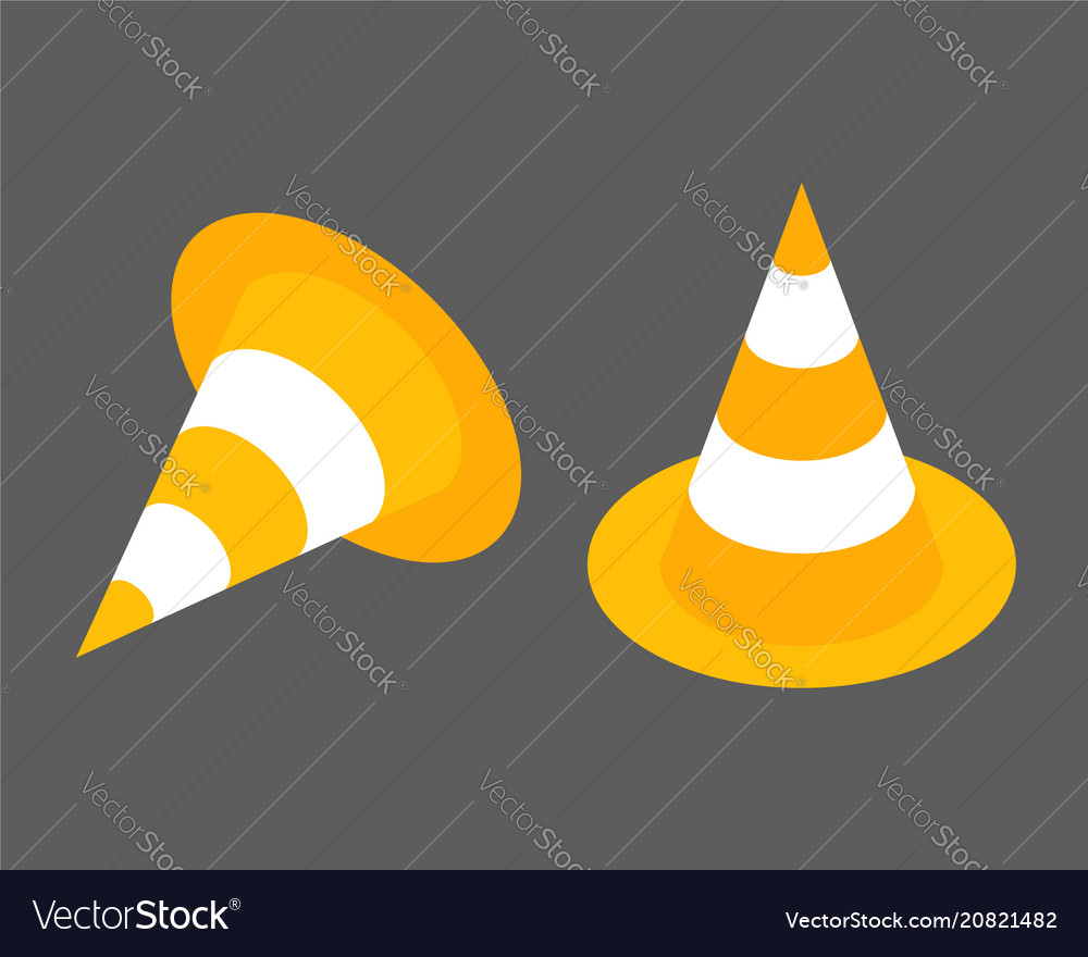 Road cones isometrisk flat design element icon