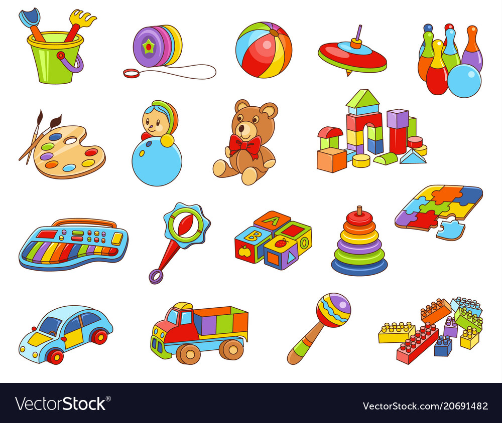 Toy icon collection - color