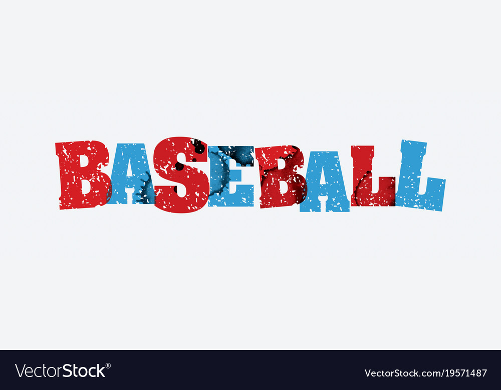 Baseball concept stamped word art vector image