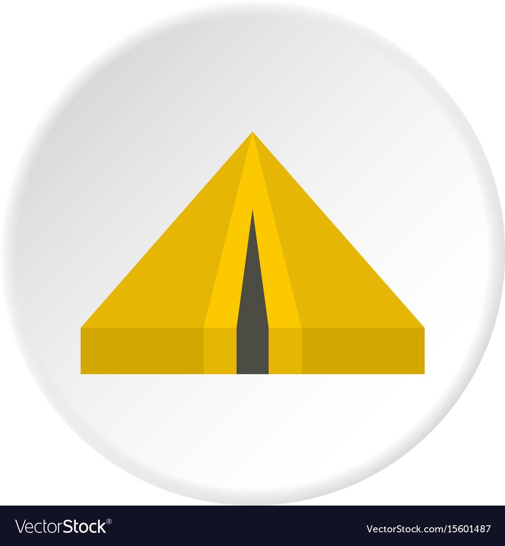Camping tent icon circle vector image
